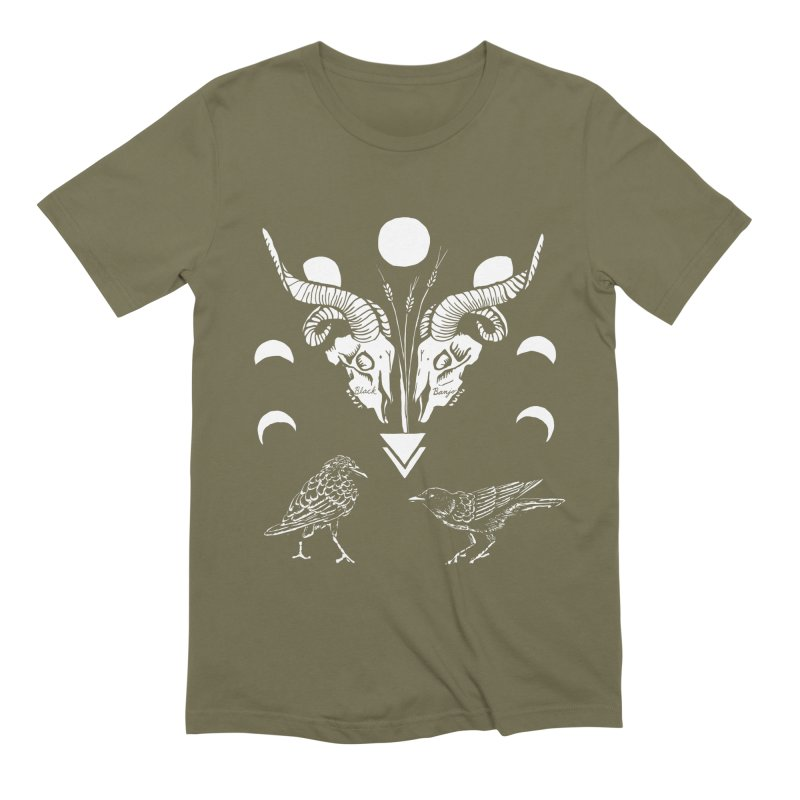 Two Skulls Men's Extra Soft T-Shirt by Black Banjo Arts