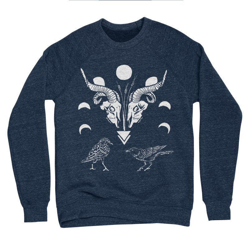 Two Skulls Women's Sponge Fleece Sweatshirt by Black Banjo Arts