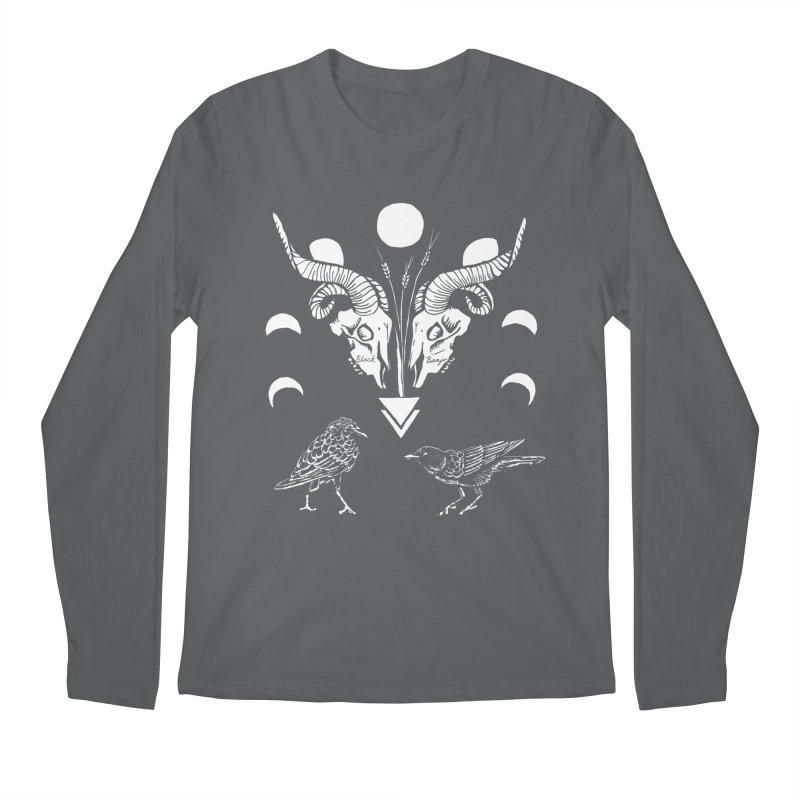 Two Skulls Men's Longsleeve T-Shirt by Black Banjo Arts