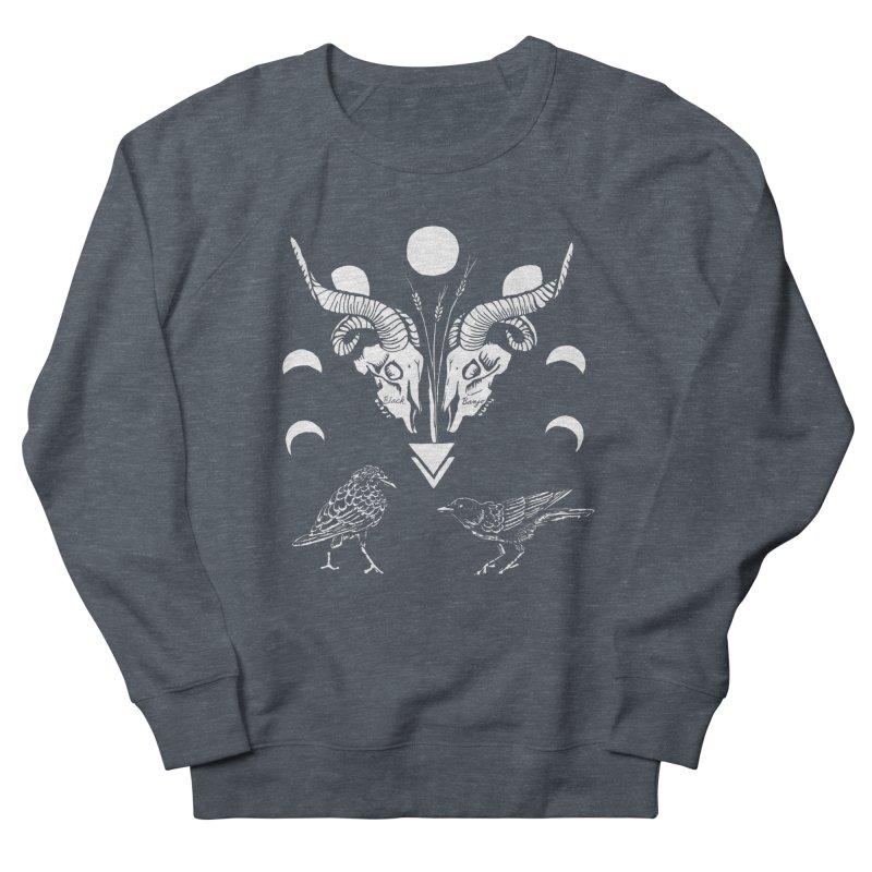 Two Skulls Men's Sweatshirt by Black Banjo Arts