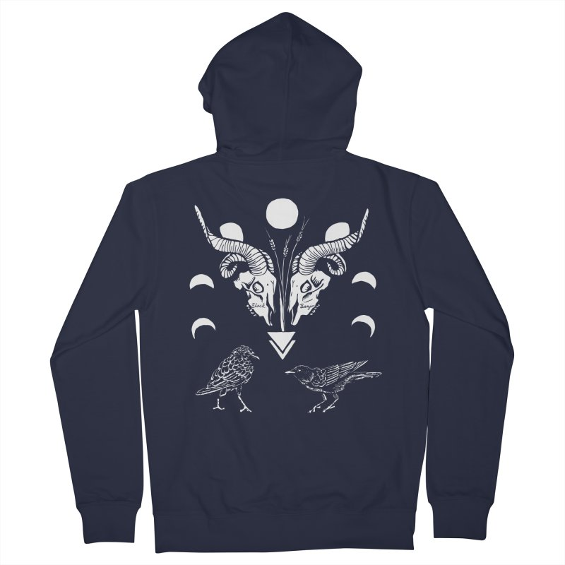 Two Skulls Women's French Terry Zip-Up Hoody by Black Banjo Arts