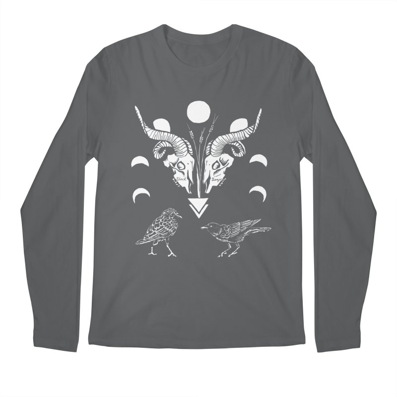 Two Skulls Men's Regular Longsleeve T-Shirt by Black Banjo Arts