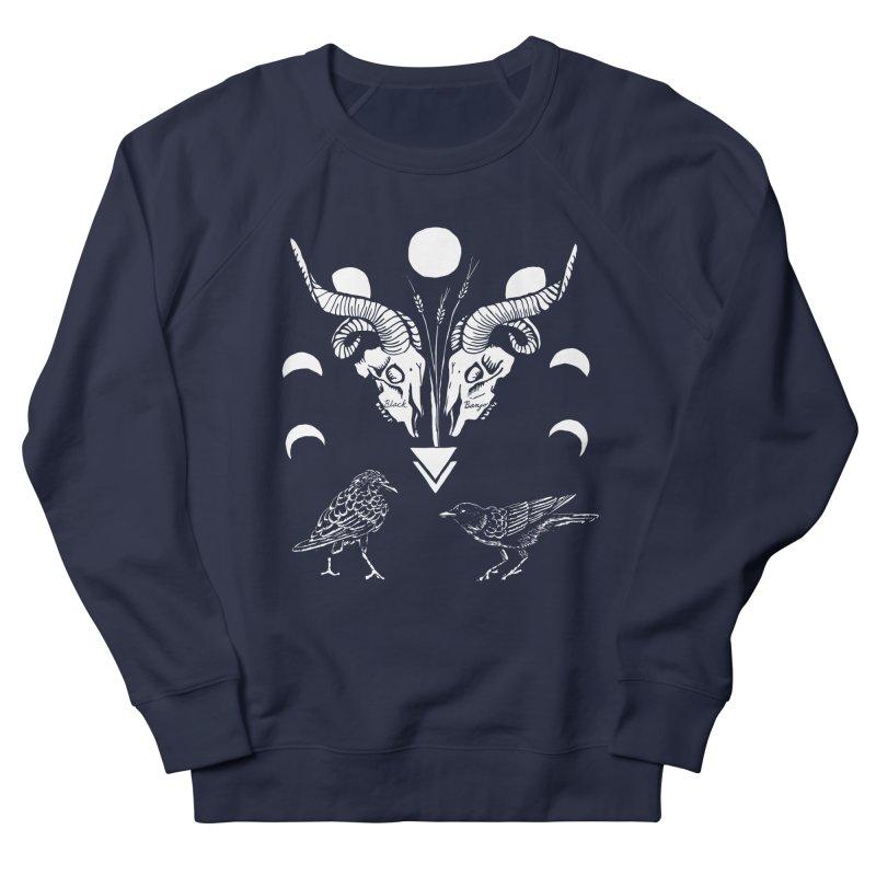 Two Skulls Women's French Terry Sweatshirt by Black Banjo Arts