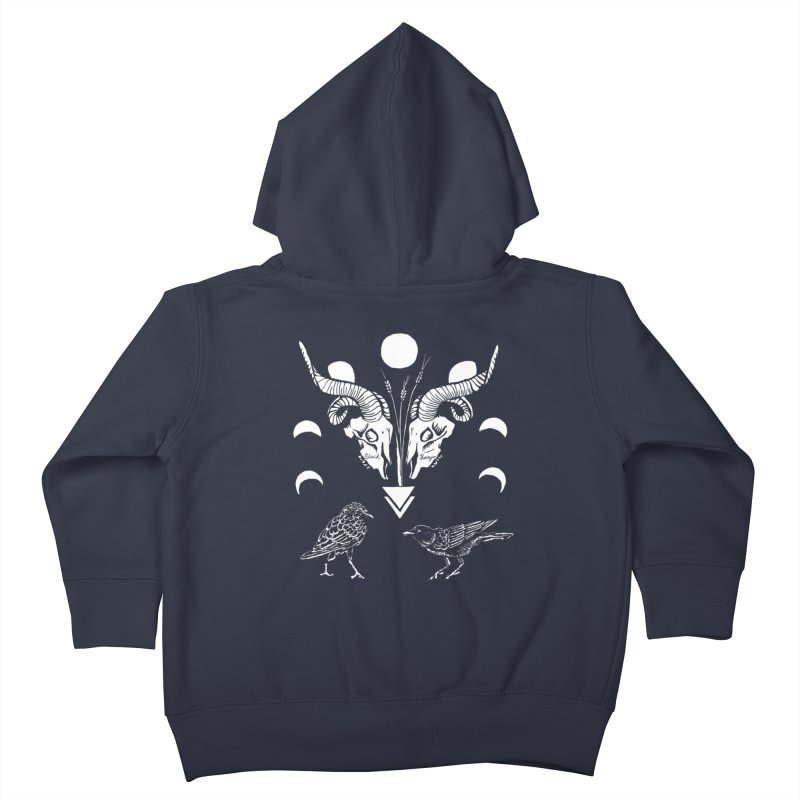 Two Skulls Kids Toddler Zip-Up Hoody by Black Banjo Arts