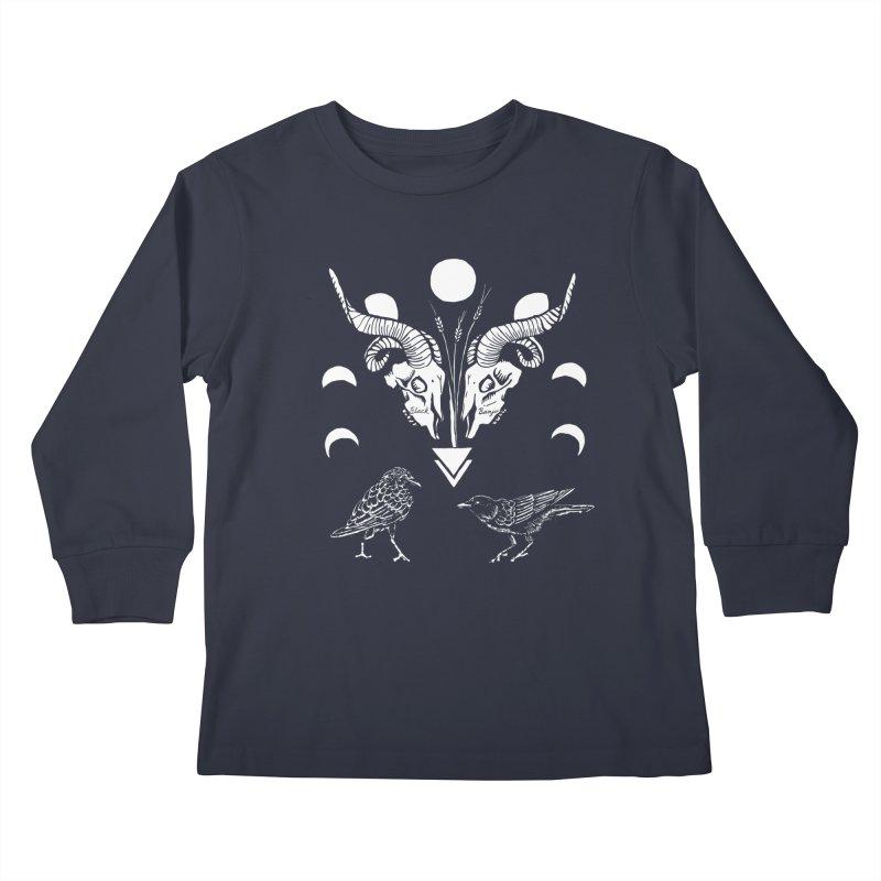 Two Skulls Kids Longsleeve T-Shirt by Black Banjo Arts