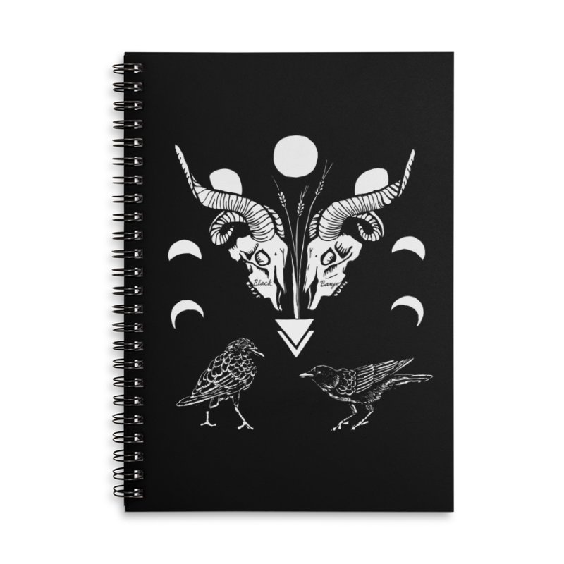 Two Skulls Accessories Lined Spiral Notebook by Black Banjo Arts
