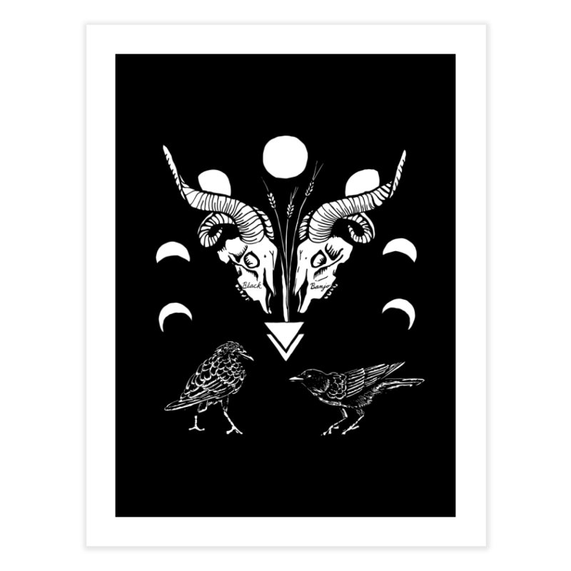Two Skulls Home Fine Art Print by Black Banjo Arts