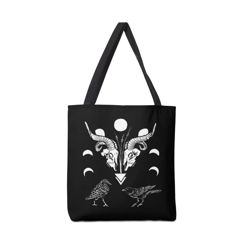 Two Skulls Accessories Tote Bag Bag by Black Banjo Arts