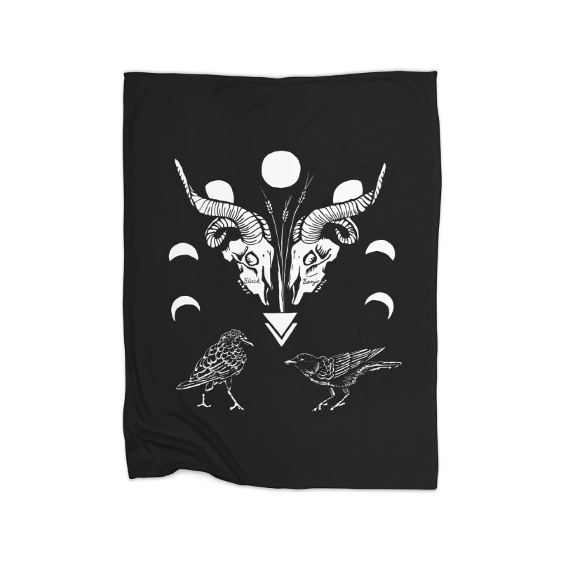 Two Skulls Home Blanket by Black Banjo Arts