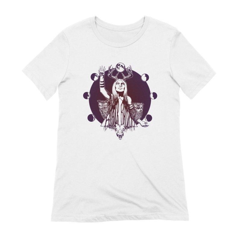 Blue Moon - Gradient Color Women's T-Shirt by Black Banjo Arts
