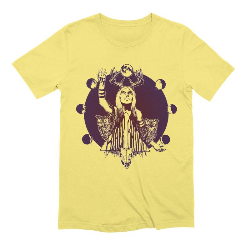 Blue Moon - Gradient Color Men's T-Shirt by Black Banjo Arts