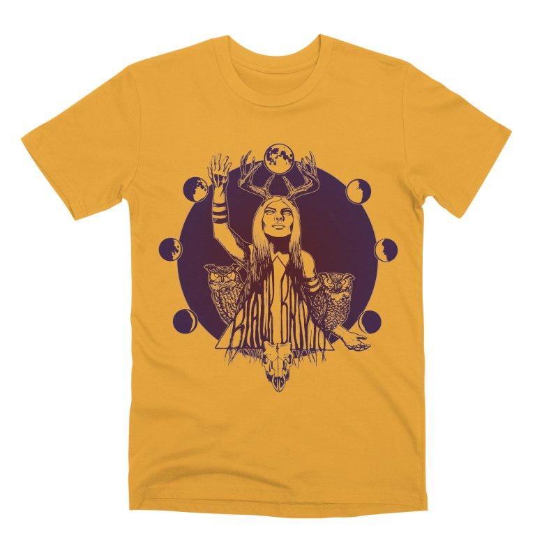 Blue Moon - Gradient Color Men's Premium T-Shirt by Black Banjo Arts