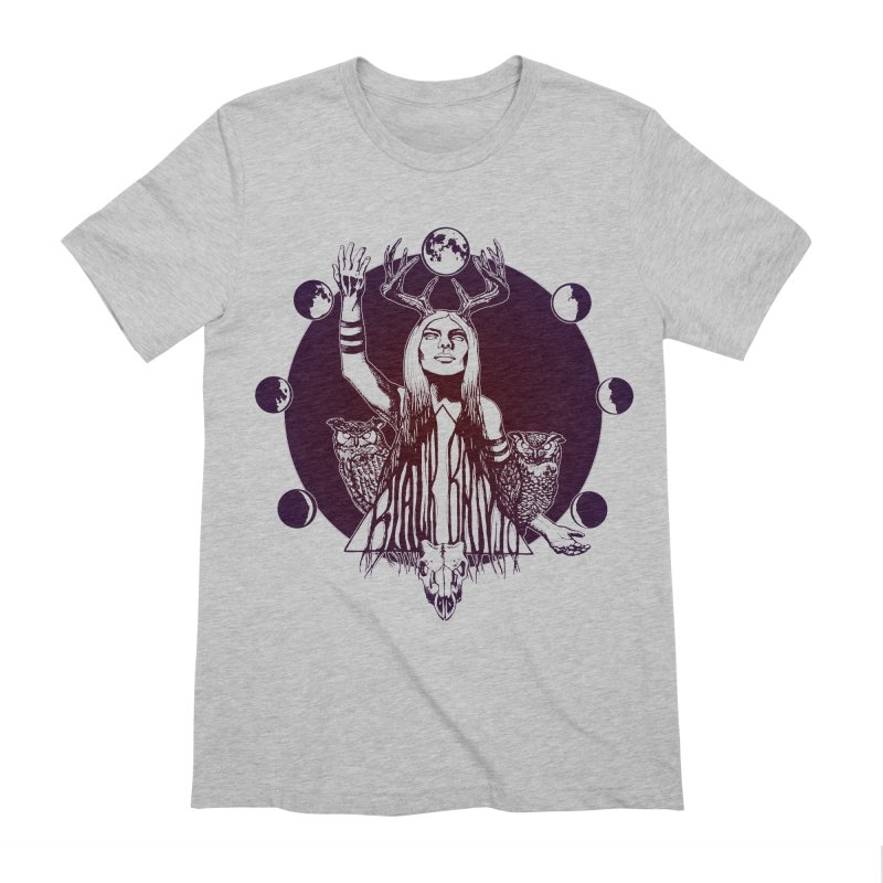 Blue Moon - Gradient Color Men's Extra Soft T-Shirt by Black Banjo Arts