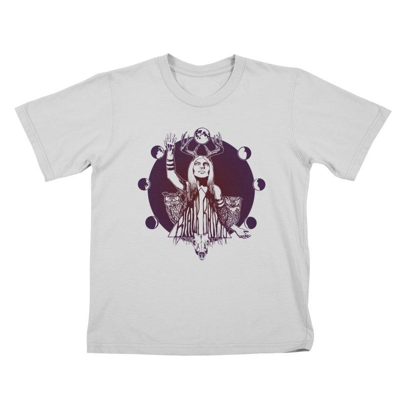 Blue Moon - Gradient Color Kids T-Shirt by Black Banjo Arts
