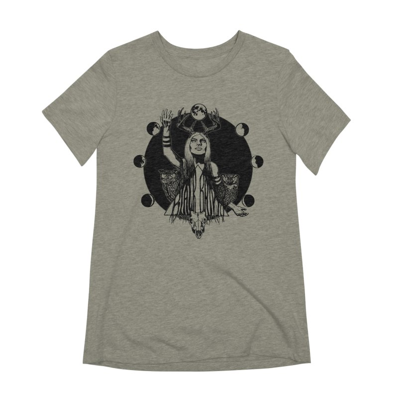Blue Moon Women's Extra Soft T-Shirt by Black Banjo Arts