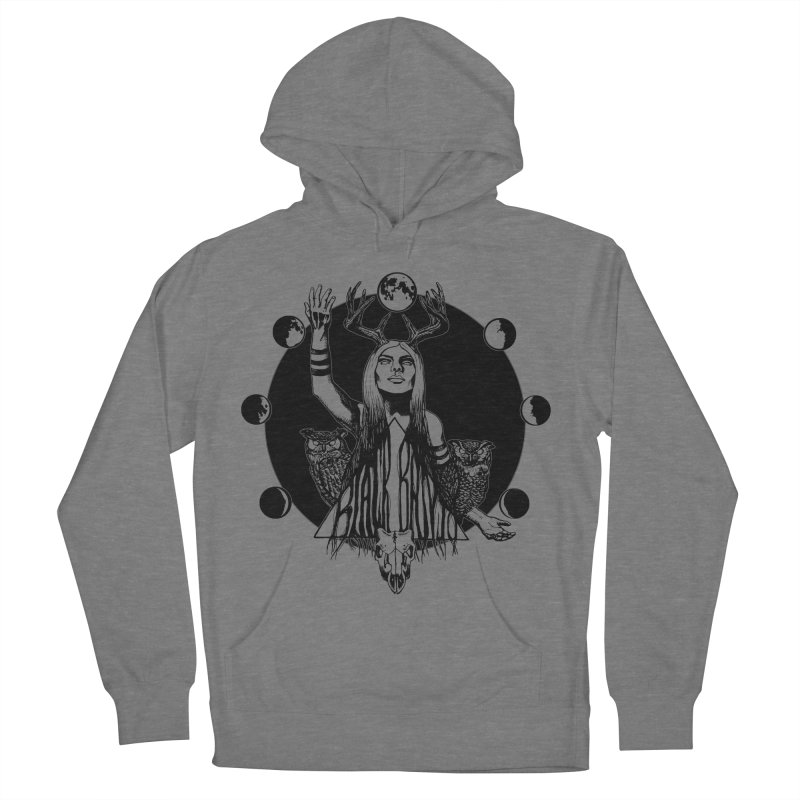 Blue Moon Women's French Terry Pullover Hoody by Black Banjo Arts