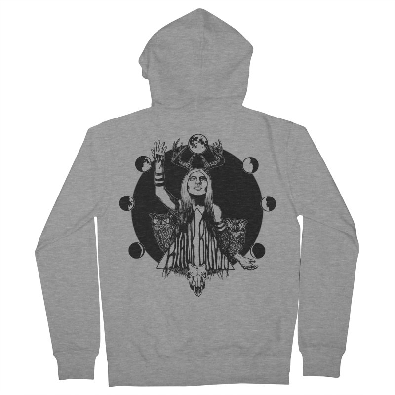 Blue Moon Women's French Terry Zip-Up Hoody by Black Banjo Arts