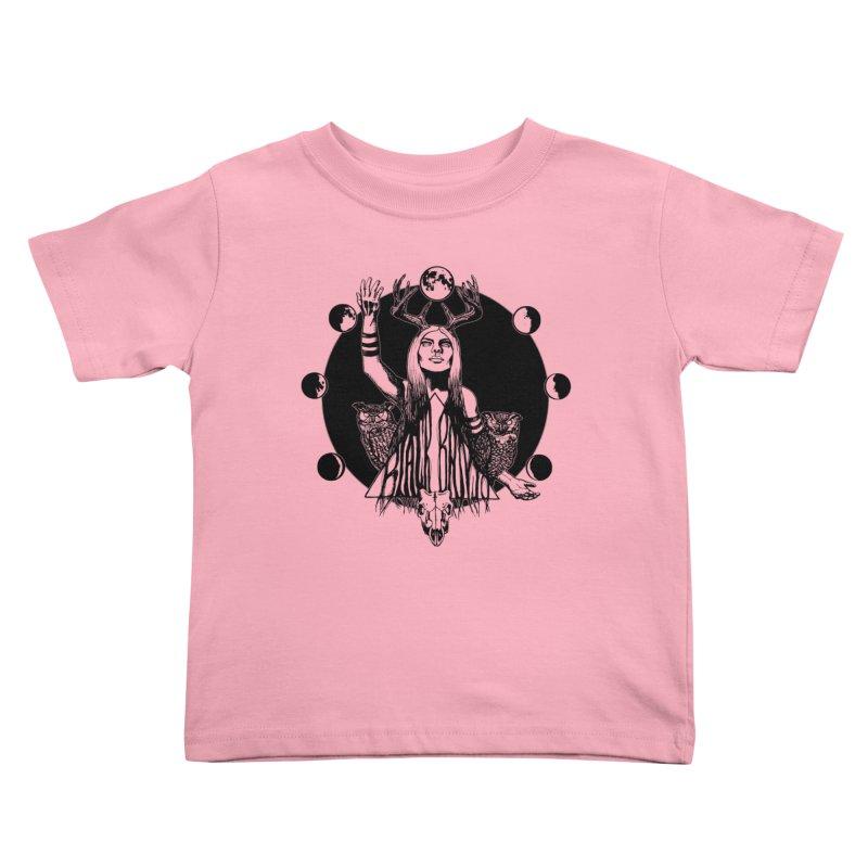 Blue Moon Kids Toddler T-Shirt by Black Banjo Arts