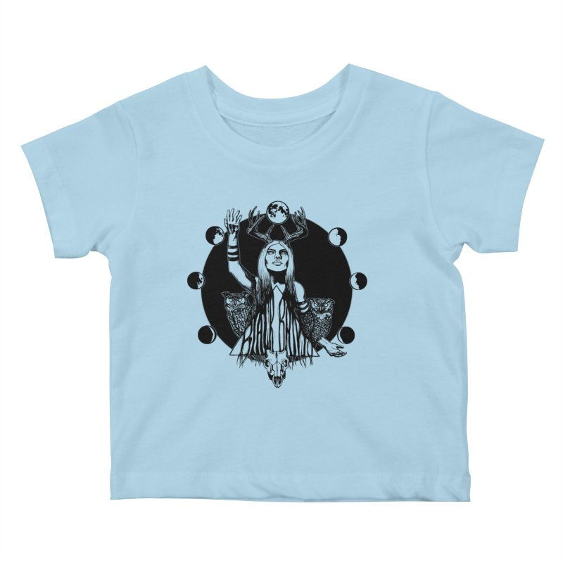 Blue Moon Kids Baby T-Shirt by Black Banjo Arts