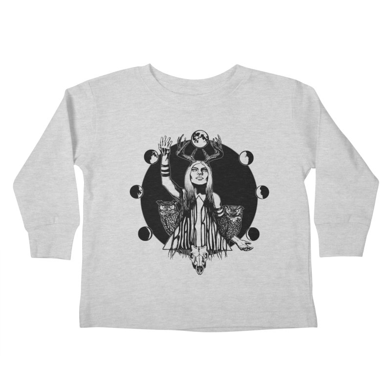 Blue Moon Kids Toddler Longsleeve T-Shirt by Black Banjo Arts