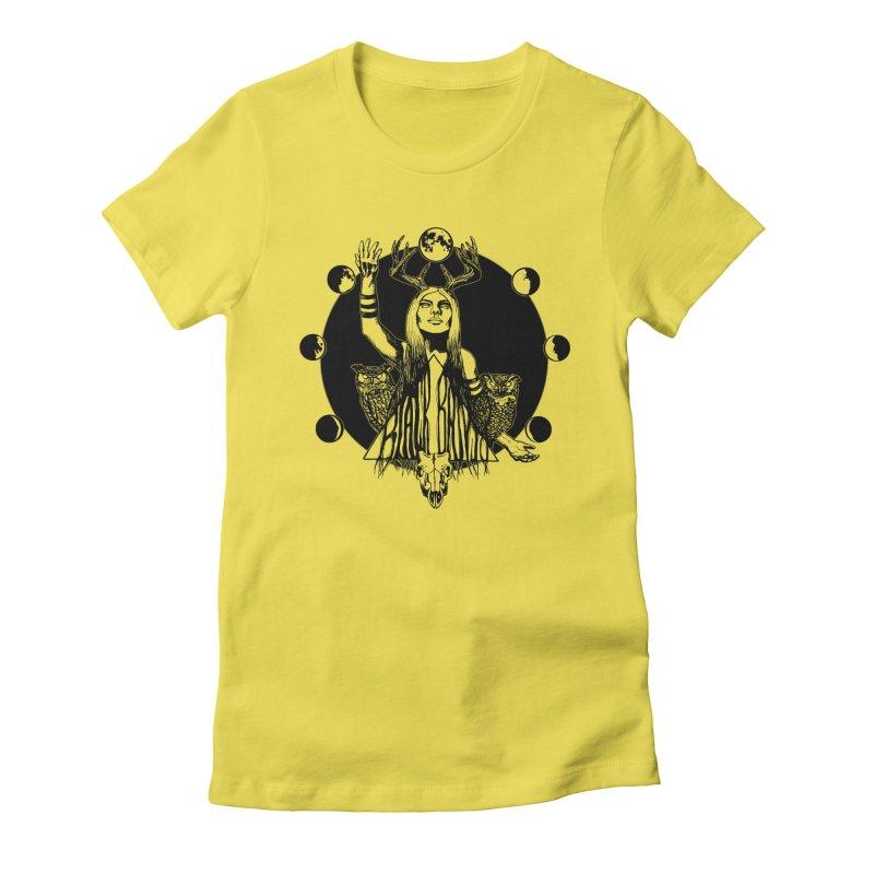 Blue Moon Women's T-Shirt by Black Banjo Arts