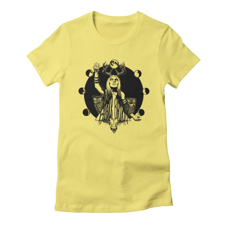 Blue Moon Women's Fitted T-Shirt by Black Banjo Arts
