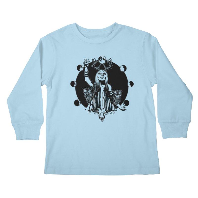 Blue Moon Kids Longsleeve T-Shirt by Black Banjo Arts
