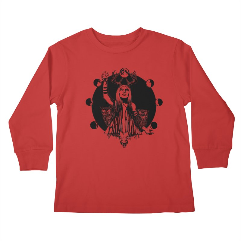 Blue Moon Kids Longsleeve T-Shirt by Black Banjo Arts