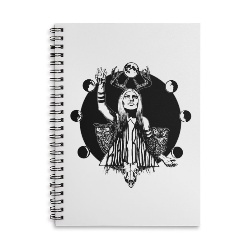 Blue Moon Accessories Lined Spiral Notebook by Black Banjo Arts