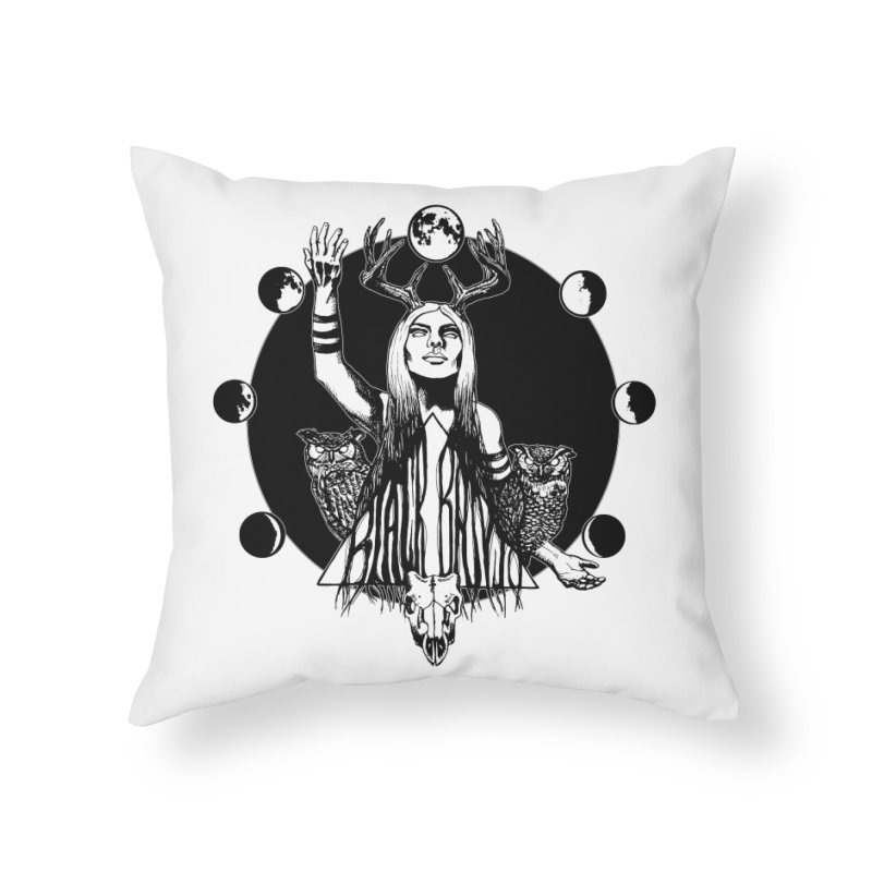 Blue Moon Home Throw Pillow by Black Banjo Arts