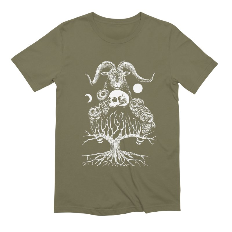 The Horned One's Messengers Men's Extra Soft T-Shirt by Black Banjo Arts