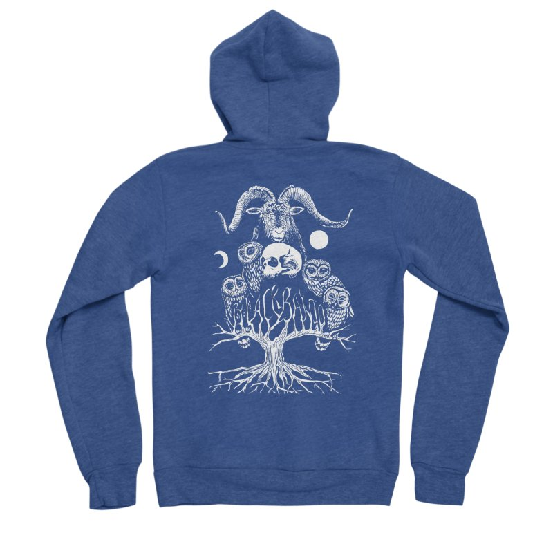 The Horned One's Messengers Women's Sponge Fleece Zip-Up Hoody by Black Banjo Arts