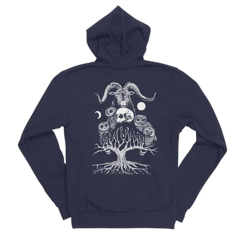 The Horned One's Messengers Men's Sponge Fleece Zip-Up Hoody by Black Banjo Arts