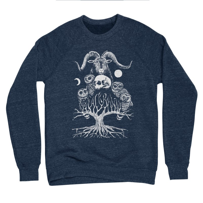 The Horned One's Messengers Women's Sponge Fleece Sweatshirt by Black Banjo Arts
