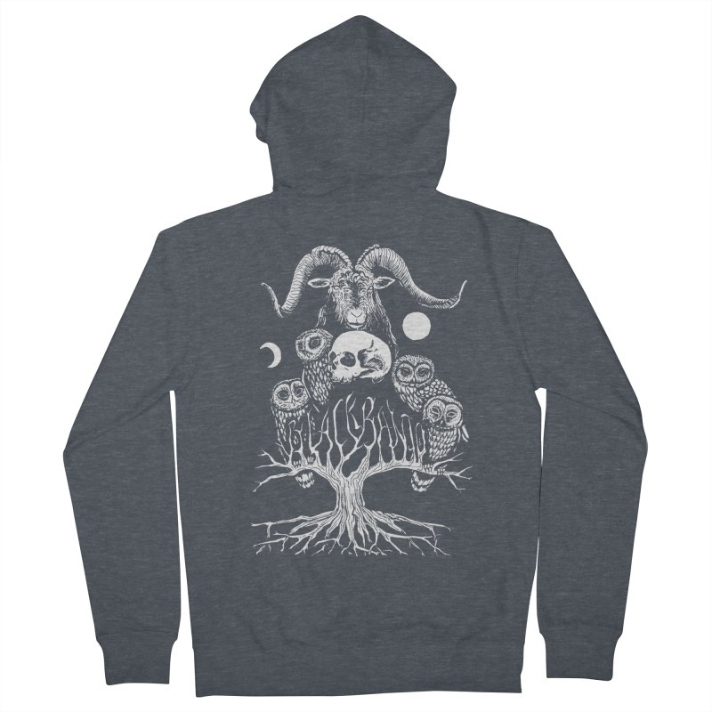 The Horned One's Messengers Women's French Terry Zip-Up Hoody by Black Banjo Arts