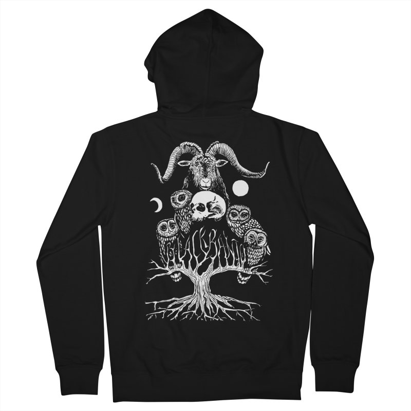 The Horned One's Messengers Men's French Terry Zip-Up Hoody by Black Banjo Arts