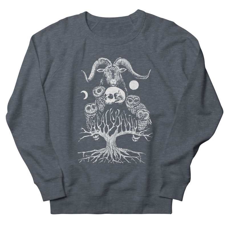The Horned One's Messengers Men's French Terry Sweatshirt by Black Banjo Arts