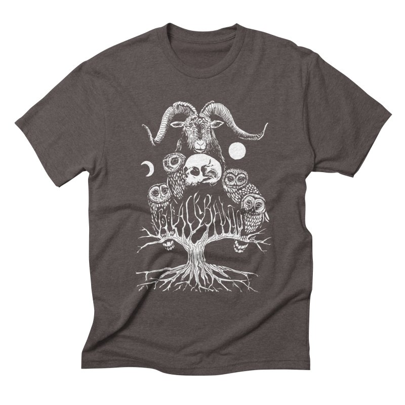 The Horned One's Messengers Men's Triblend T-Shirt by Black Banjo Arts