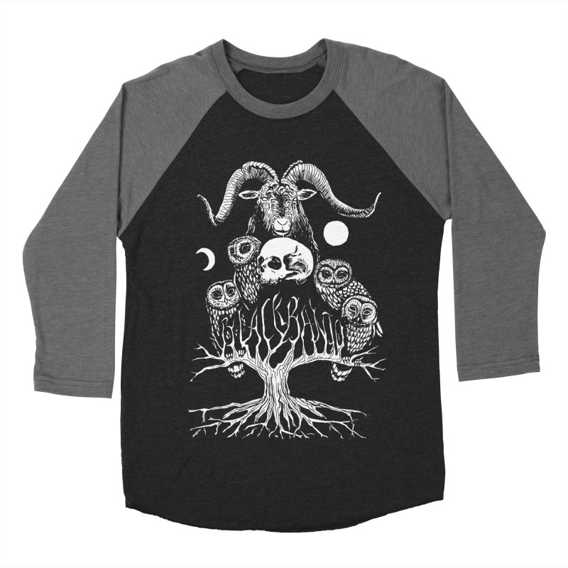 The Horned One's Messengers Women's Baseball Triblend Longsleeve T-Shirt by Black Banjo Arts
