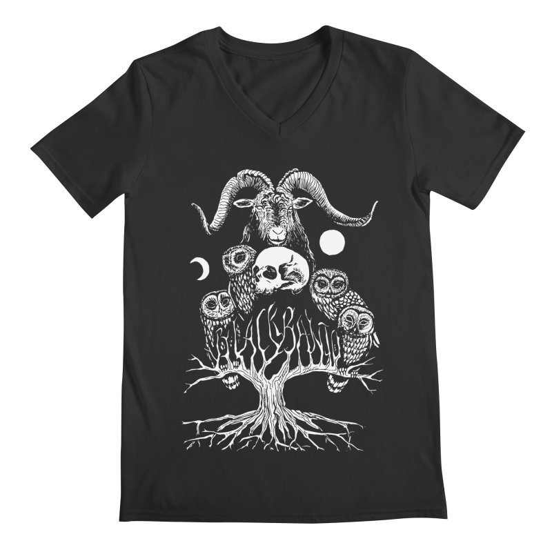 The Horned One's Messengers Men's Regular V-Neck by Black Banjo Arts