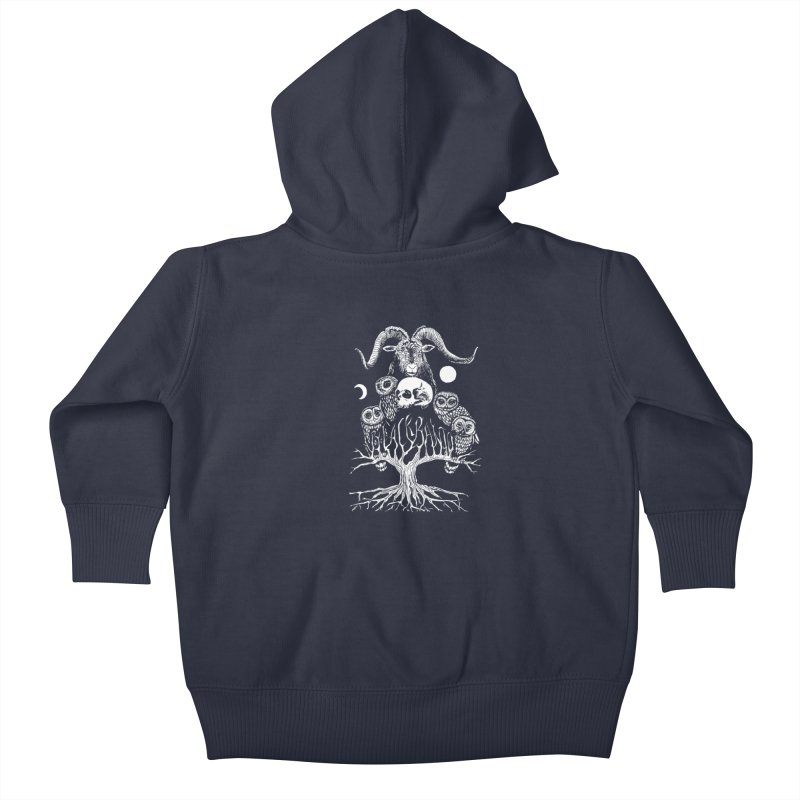 The Horned One's Messengers Kids Baby Zip-Up Hoody by Black Banjo Arts
