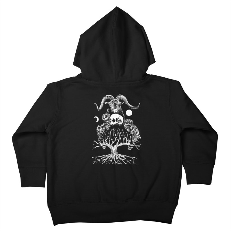 The Horned One's Messengers Kids Toddler Zip-Up Hoody by Black Banjo Arts