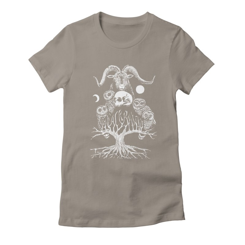 The Horned One's Messengers Women's Fitted T-Shirt by Black Banjo Arts