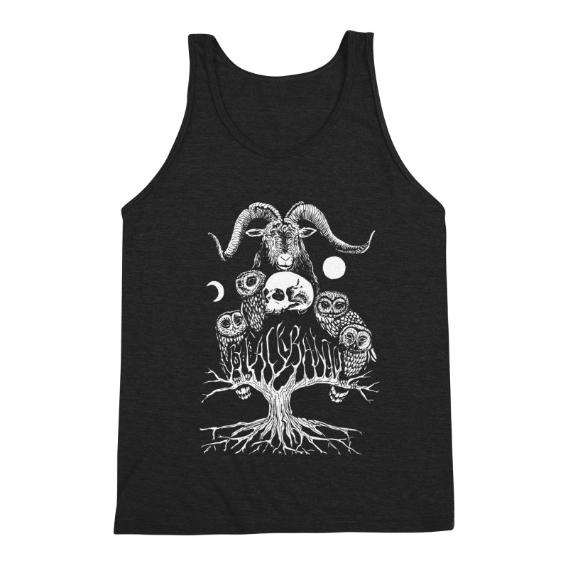 The Horned One's Messengers Men's Triblend Tank by Black Banjo Arts