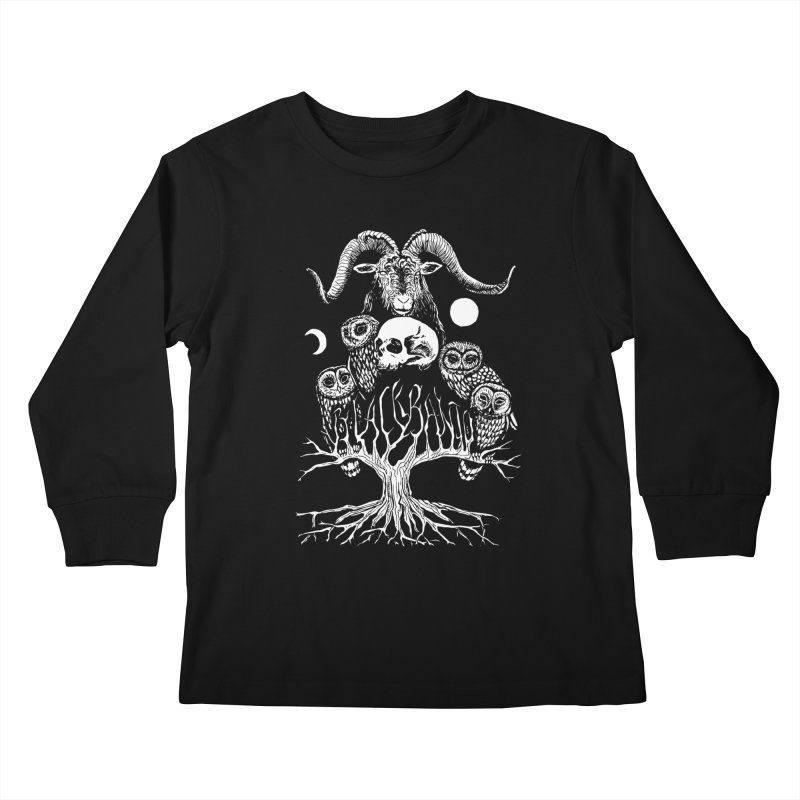 The Horned One's Messengers Kids Longsleeve T-Shirt by Black Banjo Arts