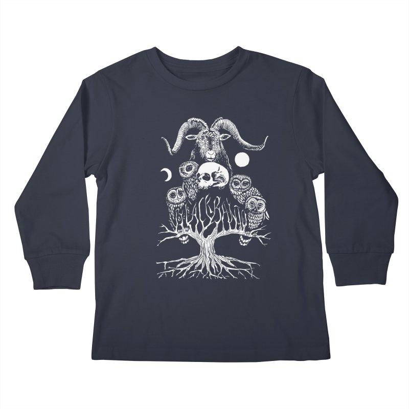 The Horned One's Messengers Kids Longsleeve T-Shirt by Black Banjo Arts