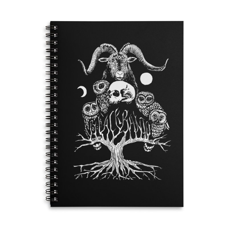 The Horned One's Messengers Accessories Lined Spiral Notebook by Black Banjo Arts