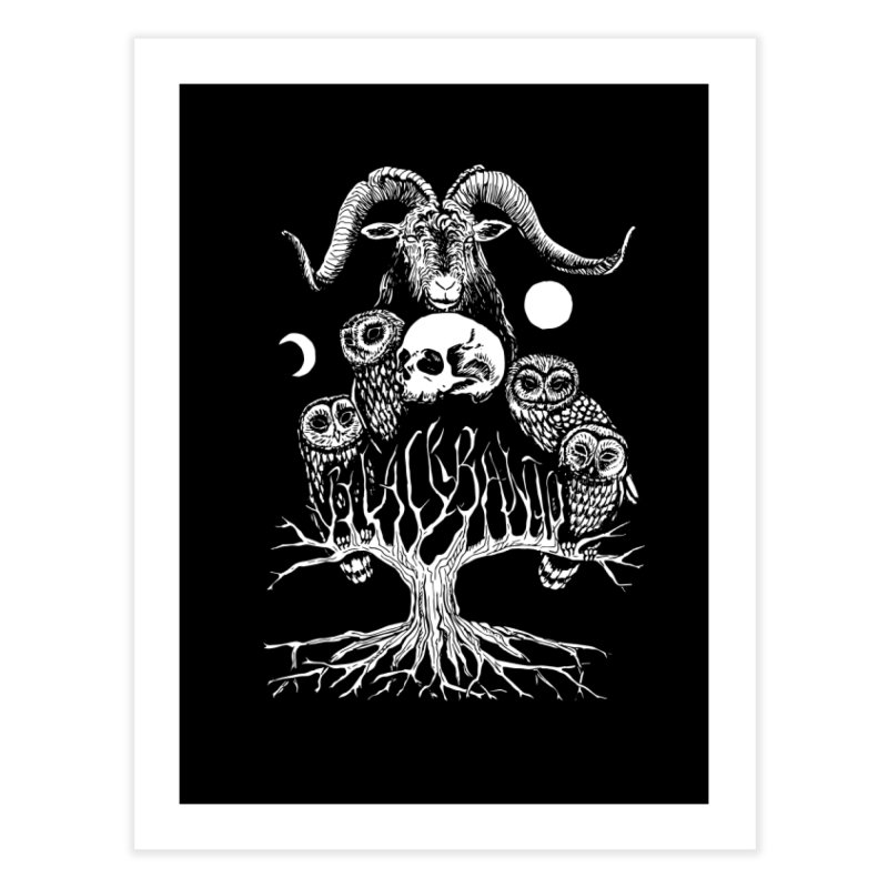 The Horned One's Messengers Home Fine Art Print by Black Banjo Arts