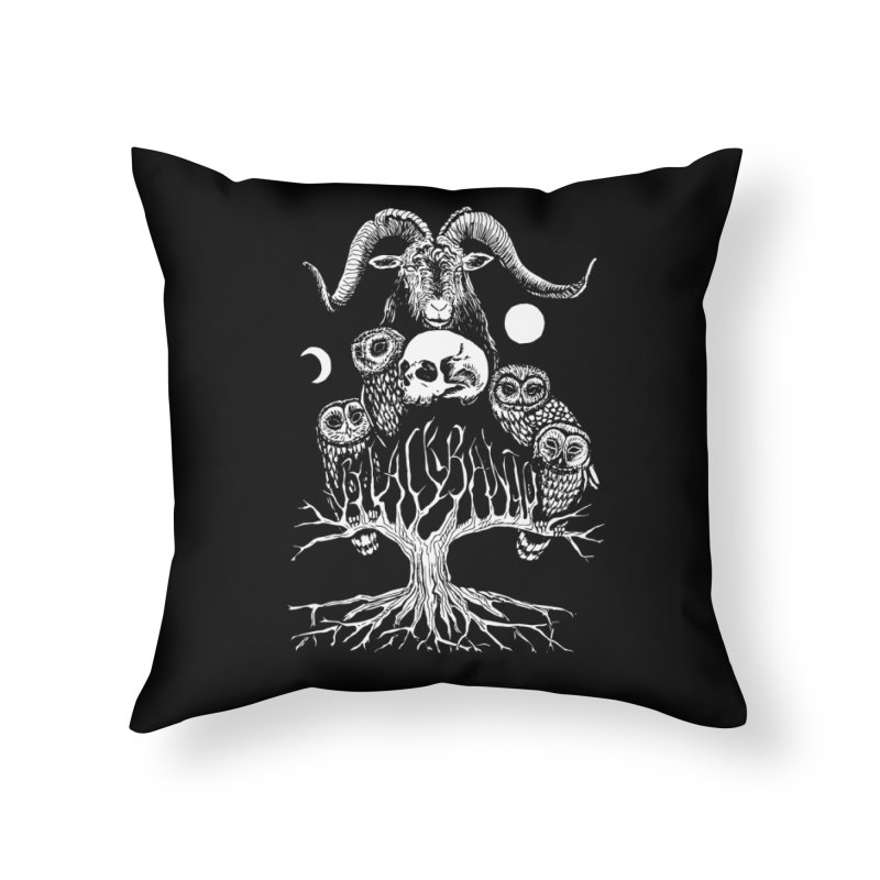The Horned One's Messengers Home Throw Pillow by Black Banjo Arts