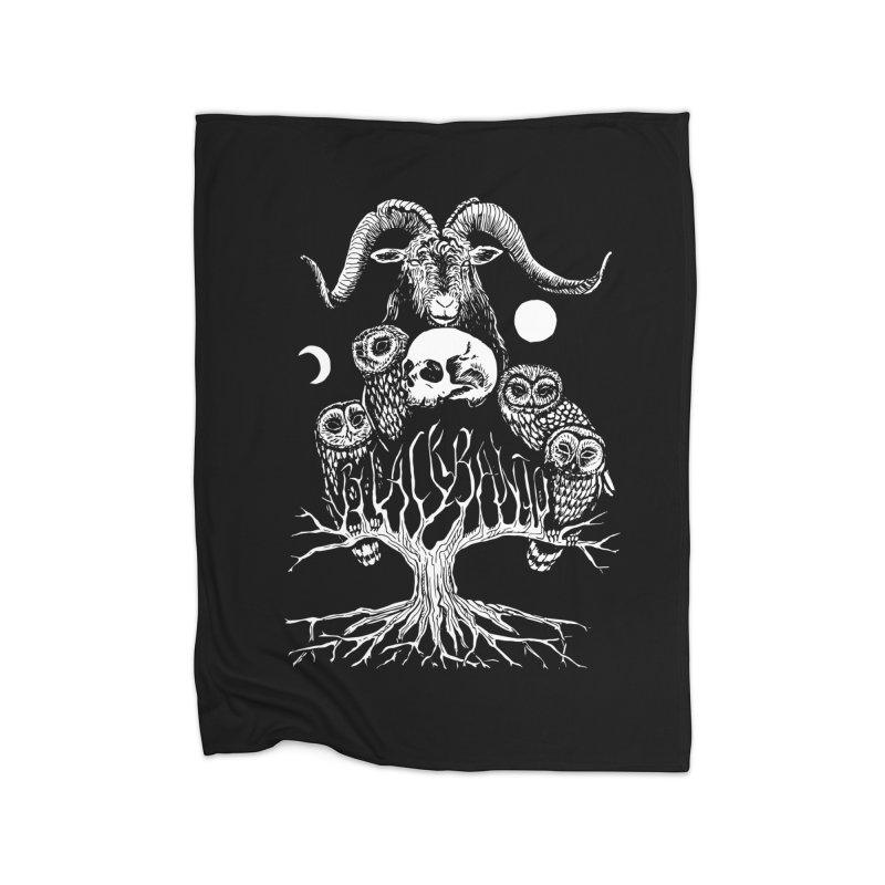 The Horned One's Messengers Home Blanket by Black Banjo Arts